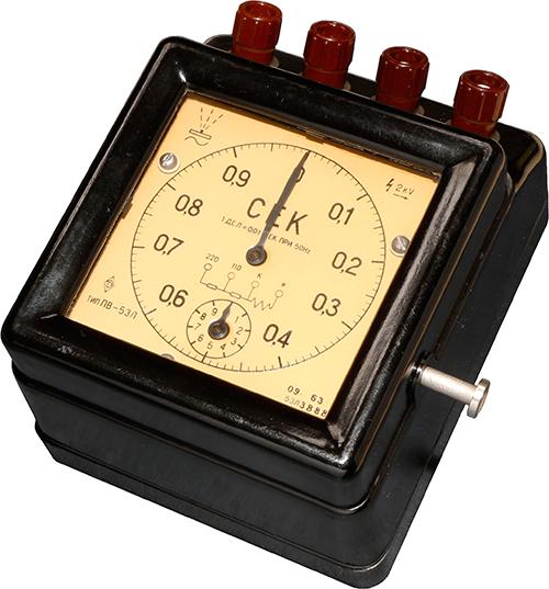 Электрический секундомер ПВ-53Л 1963 г.в. производства Московского завода Энергоприбор