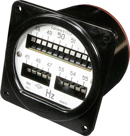 Вибрационный (язычковый) частотомер В81 1981 г.в. производства Витебского завода электроизмерительных приборов (ВЗЭП)