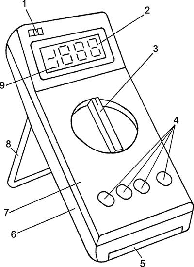 Рисунок 1. Внешний вид мультиметра радиолюбителя МР-12
