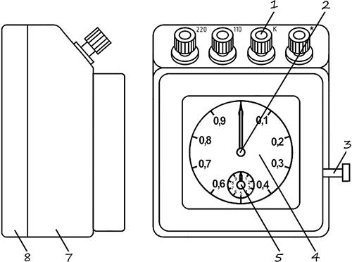Рисунок 1. Чертеж электрического секундомера ПВ-53Л