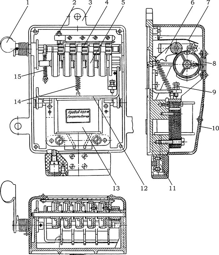Рисунок 1. Конструкция счетчика электрических импульсов СЭИ-1