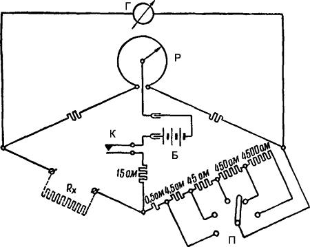 Рисунок 2. Принципиальная электрическая схема индикатора сопротивления ММВ.
