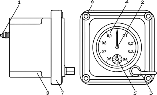 Рисунок 2. Чертеж электрического секундомера ПВ-53Щ