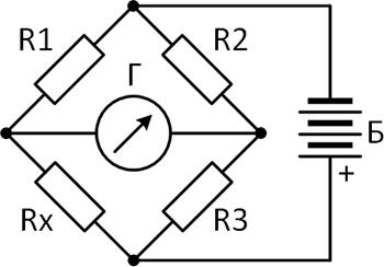 Рисунок 4. Схема, поясняющая работу одинарного измерительного моста
