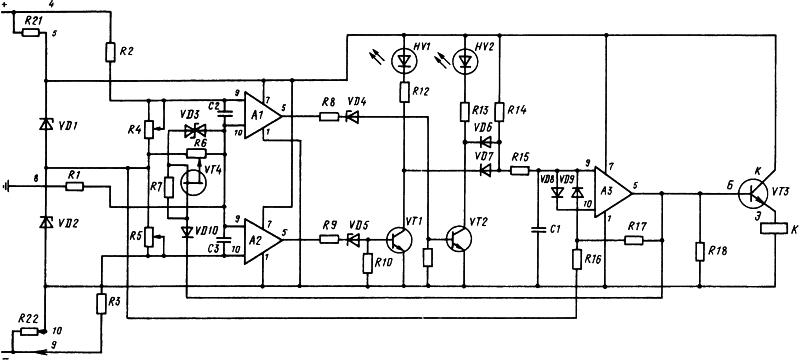 Рисунок 1. Схема электрическая принципиальная устройства контроля изоляции УКИ-2