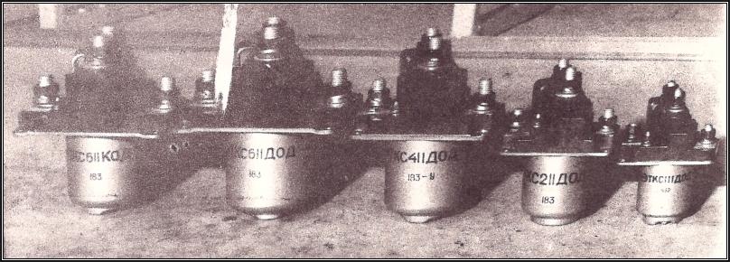 Рисунок 1. Контакторы ТКС611ДОД, ТКС411ДОД, ТКС211ДОД, ТКС111ДОД, ТКД511ДОД