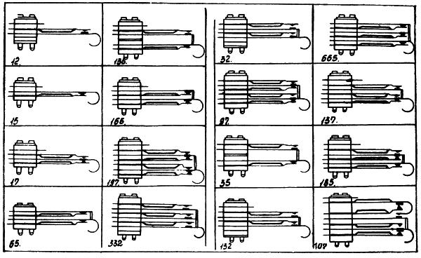 Рисунок 2. Сложные контактные группы реле КДР