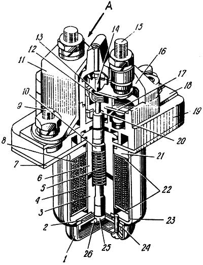 Рисунок 2. Контактор одноцепный переключающий