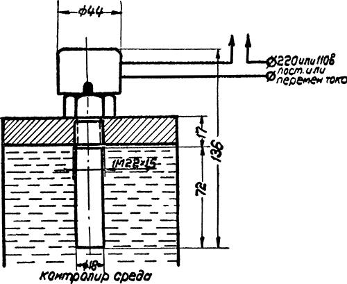 Рисунок 2. Схема включения реле ТР-200
