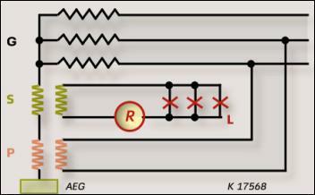Рисунок 3. Заземление нейтрали генератора с помощью ламп.