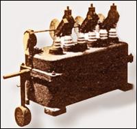 Рисунок 1. Баковый выключатель (масляный выключатель с расцепителем, ВВС, 1900)