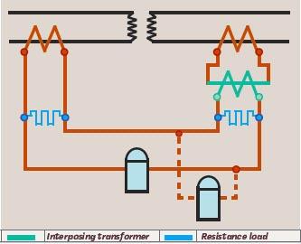 Рисунок 15. Дифференциальная защита с промежуточными трансформаторами тока (по Барри)