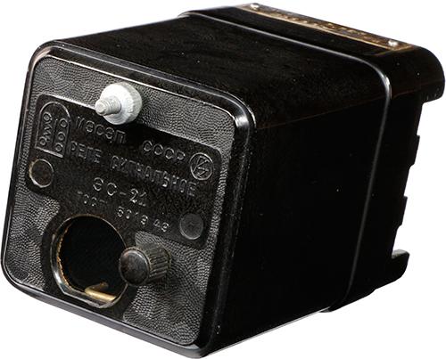 Сигнальное реле ЭС-21 1954 г.в. производства Чебоксарского электроаппаратного завода (ЧЭАЗ)