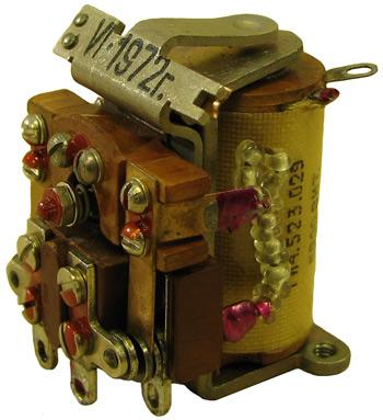 Реле напряжения электромагнитное ГИ4.523.029  1972 года выпуска.