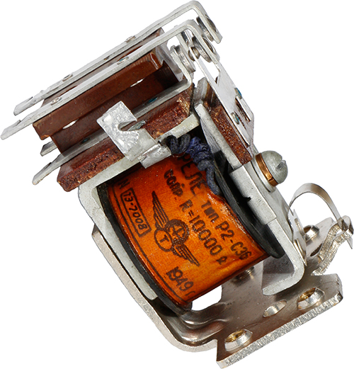 Электромагнитное реле Р2-С36 1949 г.в. производства Ленинградского завода №448