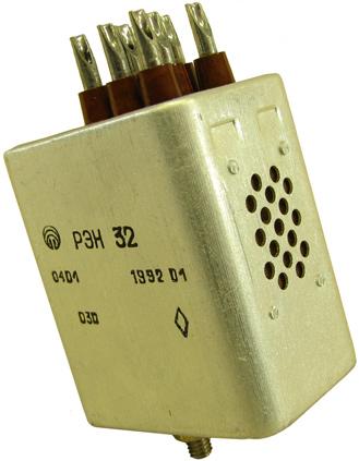 Электромагнитное реле типа РЭН-32 выпушено в 1992 году на Харьковском производственном объединение Радиореле