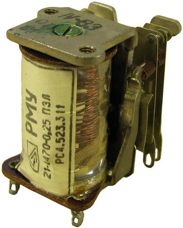 Электромагнитное реле постоянного тока типа РМУ выпущено в 1983 году. Производства Капанского релейного завода ныне