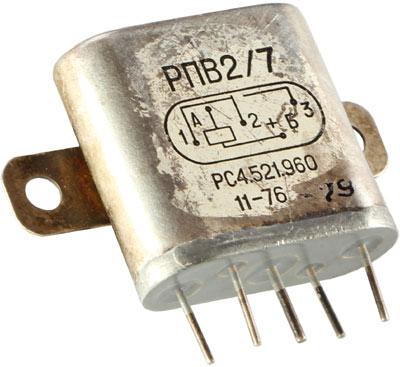 Высокочастотное реле РПВ-2/7 1976 г.в. РС4.521.960 логотипа производителя нет, видимо это реле шло на экспорт (сзади надпись Сделано в СССР)