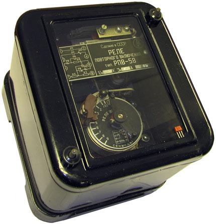 Реле повторного включения типа РПВ-58 производства ЧЭАЗ 1961 года выпуска.
