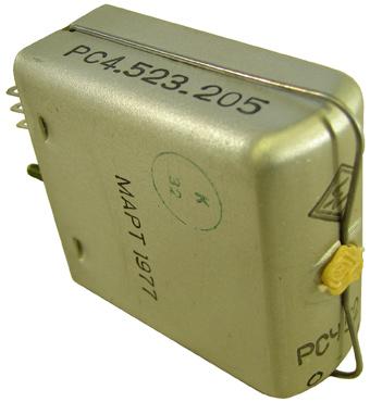 Электромагнитное реле типа РСЧ-52 1977 г.в. производства Стародубского завода Реле ныне ОАО Реле г. Стародуб ????