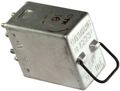 Реле постоянного тока типа РВМ-2С-110 1972 г.в. производства Таурагского завода элементов вычислительных машин