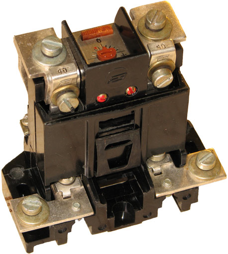 Двухфазное тепловое реле типа ТРН-40 год выпуска 1966