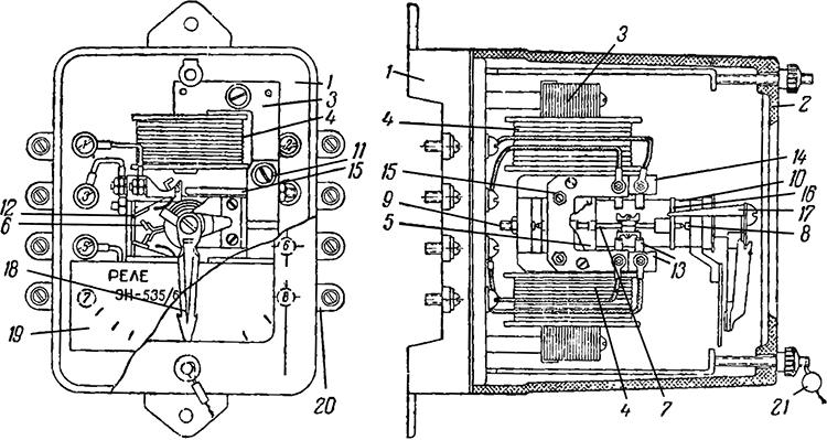 Рисунок 1. Конструкция реле контроля синхронизма ЭН-535.
