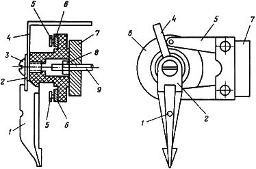 Рисунок 2. Схема внутренних соединений и расположение выводов реле контроля синхронизма ЭН-535