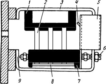 Рисунок 2. Конструкция контактной системы сигнального реле ЭС-21.