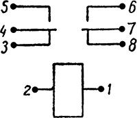 Рисунок 2. Электрическая схема малогабаритного реле РЭС-9