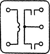 Рисунок 3. Схема внутренних соединений сигнального реле ЭС-21.