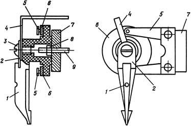 Рисунок 3. Регулировочная головка реле ЭТ-520 (нового образца выпуска после 1953 года)