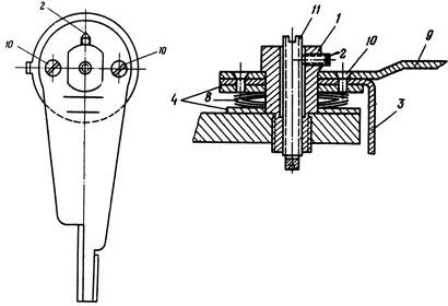 Рисунок 2. Регулировочная головка реле ЭТ-520 (старого образца выпуска до 1953 года)