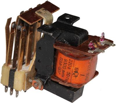 Промежуточное реле РПТ-100  1962 года выпуска, производства завода Реле и Автоматика