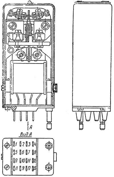 Рисунок 1. Чертеж поляризованного реле 64П