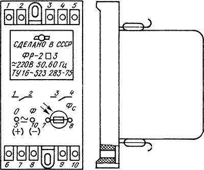 Рисунок 1. Общий вид фотореле ФР-2 (ФР-2М)