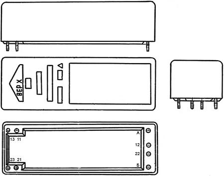 Общий вид и обозначение выводов герконового реле РГК-24