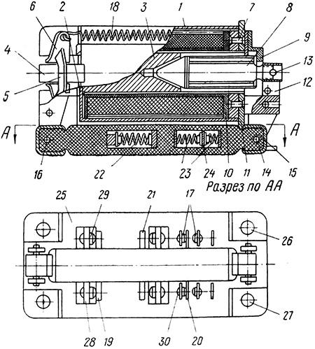 Рисунок 1. Конструкция реле РТ-40