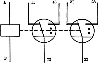 Принципиальная электрическая схема герконового реле РГК-24