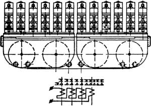 Рисунок 3. Реле РСАМ-4 и его контактные группы