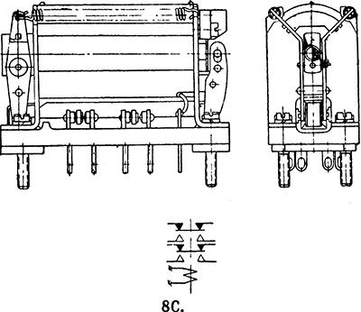 Чертеж и схема реле 8С