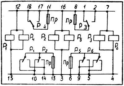 Схема блока реле ЦЕ4.568.137 (НРМ ТД 0,2)