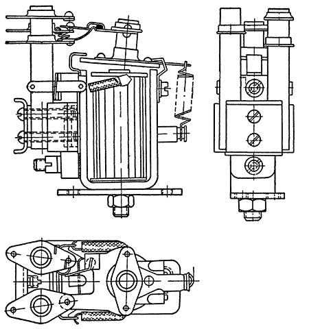 Общий вид реле типа ЯЕ4.500.001 (К-201)