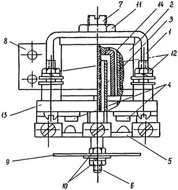 Конструкция промежуточного реле типа ЭП-1
