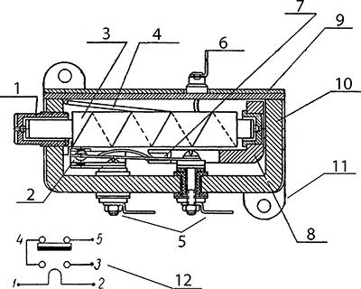 Термореле времени ВП4.542.001 схема, чертеж