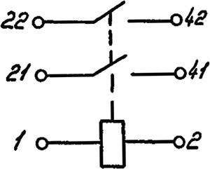 Электрическая схема реле 8Э-123 (8Э-123М)