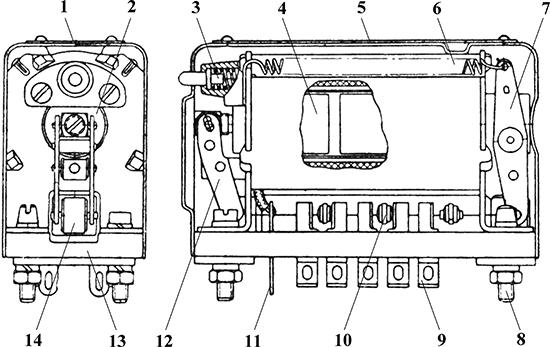Рисунок 1. Чертеж реле МР-2