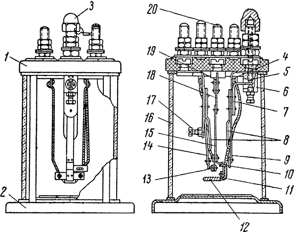 Рисунок 1. Конструкция маршрутного термического реле МТР-2