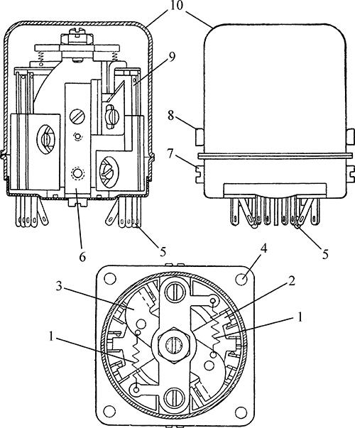 Рисунок 1. Чертеж электромагнитного реле постоянного тока РЭС-7