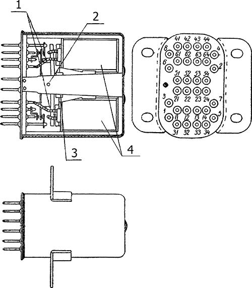 Рисунок 1. Чертеж дистанционного переключателя РПС-28